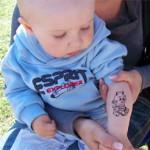 Unser juengster Spass Tattoo Gast mit nur 18 Monaten