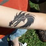 Airbrush Drachen als Tattoo