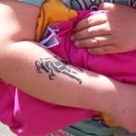 Pferdchen als Airbrush Tattoo