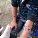 Kinder wollten auch noch ein zweites Spass Tattoo
