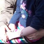 Kinder und Elternteile mit Airbrush Tattoos
