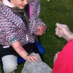 Spass Tattoos für Kinder in Jüterbog am 13.Mai 2011