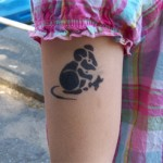 Kinder Airbrush Tattoo kleine Maus