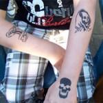 Drei Airbrush Tattoos zum mitnehmen