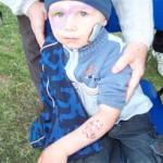 Kinder mit Spass Tattoos