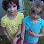 Kinderschminkstrasse mit Airbrush Tattoos