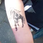 Pferde Tattoo mit Airbrush