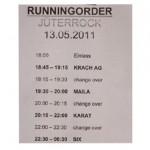 JüterRock Running Order