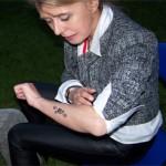 Auch Sie war vom Airbrush Tattoo begeistert
