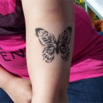 Schmetterling als Spass Tattoo
