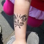 Airbrush fuer Kinder mit Schmetterlingen