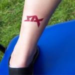 SIX Fan Tattoo mit Airbrush