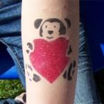 Ein knuddel Airbrush Teddy