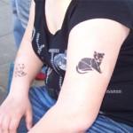 Teufel & Katze als Airbrush Tattoo