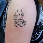 Eltern und Kinder Tattoos mit Airbrush