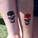 Totenkopf Airbrush Kinder Tattoo