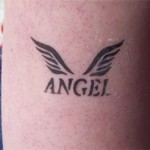 Airbrush Angel Tattoo