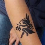 Airbrush Tattoo als Elfe