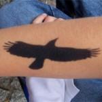Airbrush Vogel Tattoo