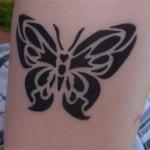 Butterfly als Airbrush im Kindergarten