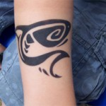 Fish als Airbrush Tattoo