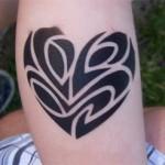 Herz Tattoo im Kindergarten