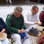 Kartoffel schael Wettbewerb in Nauen