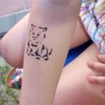Katzen Tattoo am Arm
