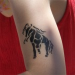 Kinder-Pferde Airbrush Tattoo