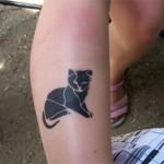Kinder Tattoo Katze