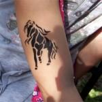 Pferd als Spass Tattoo