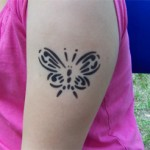 Schmetterling als Airbrush Tattoos