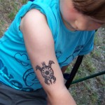Turtle Airbrush Tattoo