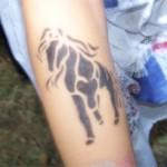 Airbrush Pferdchen Tattoo