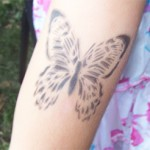 Airbrush Schmetterling Tattoo