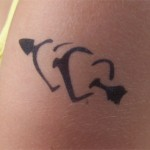 Herzen Airbrush Tattoo in Zabeltitz
