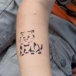 Katze als Airbrush Tattoo in Zabeltitz