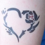 2farb Herz Airbrush Tattoo
