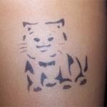 Katze als Tattoo