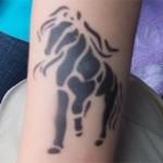 Pferde Airbrush Tattoo