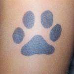 Pfote als Airbrush Tattoo