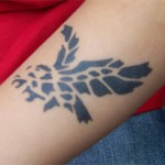 Adler Tattoo am Unterarm