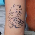 Teufelchen als Airbrush Tattoo
