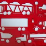 Auto und LKW Malschablone