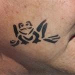 Kinder Spass Tattoo der Frosch im Gesicht