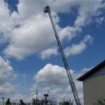 39.6 Meter über dem Famililenfest in Hoppegarten
