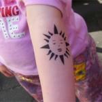 Airbrush Sonnen Tattoo