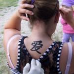 Auch die Eltern waren begeistert von den Airbrush Tattoos