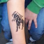 Airbrush Tattoo Pferdchen machten das Rennen