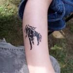 Kinder aus Hoppegarten mit Airbrush Tattoos